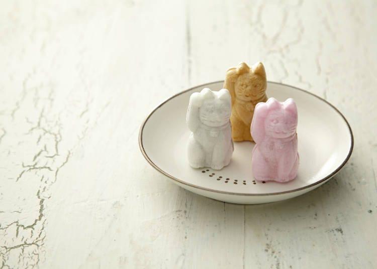 招財貓型狀的幸運甜點「招福最中餅」