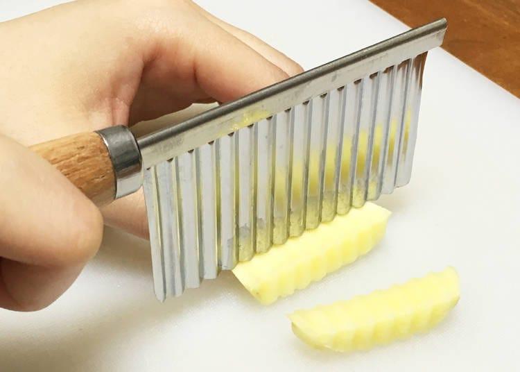 用波浪狀菜刀把料理變得更時尚吧!