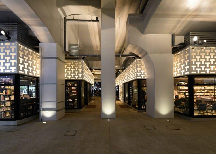 利用高架线下的空间建成的新式商业街