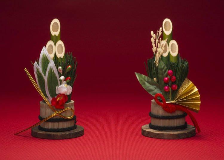 가도마츠(門松, 새해에 문 앞에 세우는 장식 소나무) : 장식을 해서 신을 맞이한다