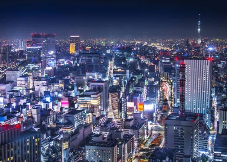 Suasana malam di Ginza