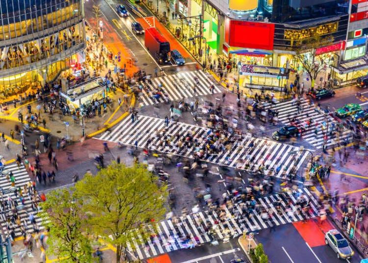 Suasana ketika bermalam di Shibuya