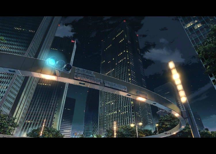 (5) '너의 이름은'  신주쿠 경찰서 뒤 교차로