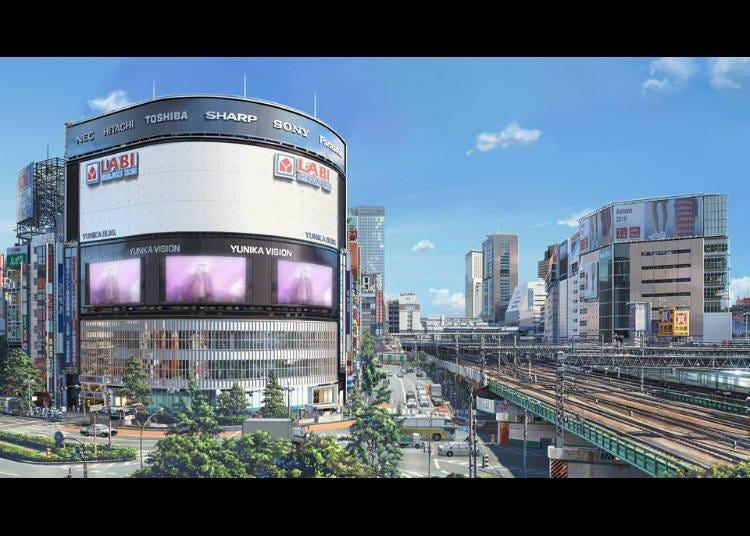 (6) '너의 이름은' 신주쿠 철도교 동쪽