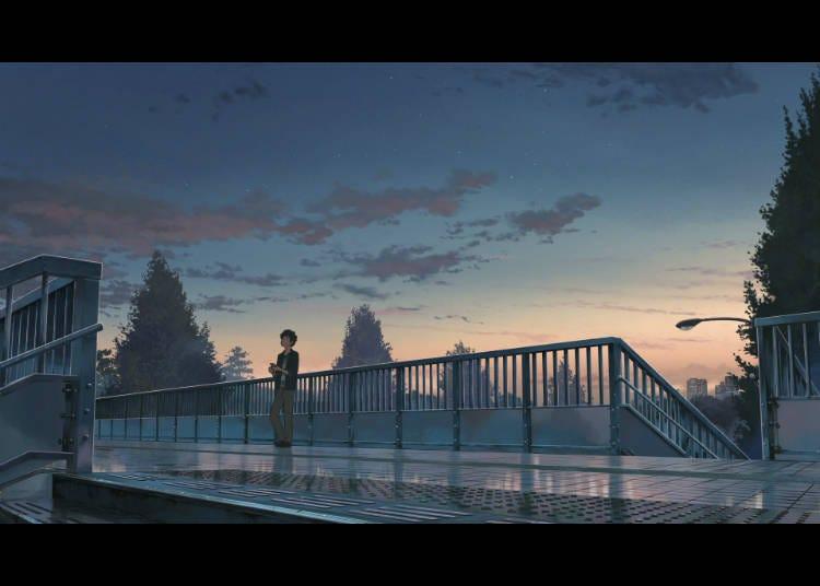 ① JR信浓町前人行天桥