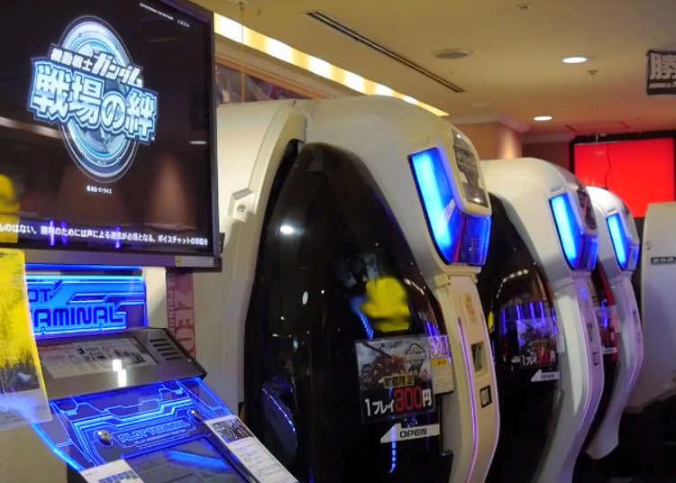 Become a True Gundam Pilot - Stepping into the P.O.D. at a Tokyo Arcade! (Video)