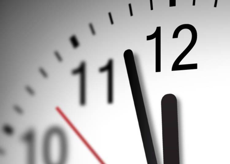 단! 토시코시 소바를 먹는 적절한 시간은 정해져 있다?