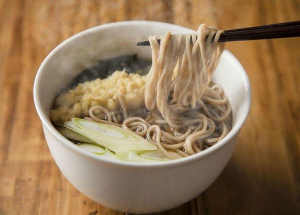 冷熱皆宜的蕎麥麵,可依自己的喜好食用
