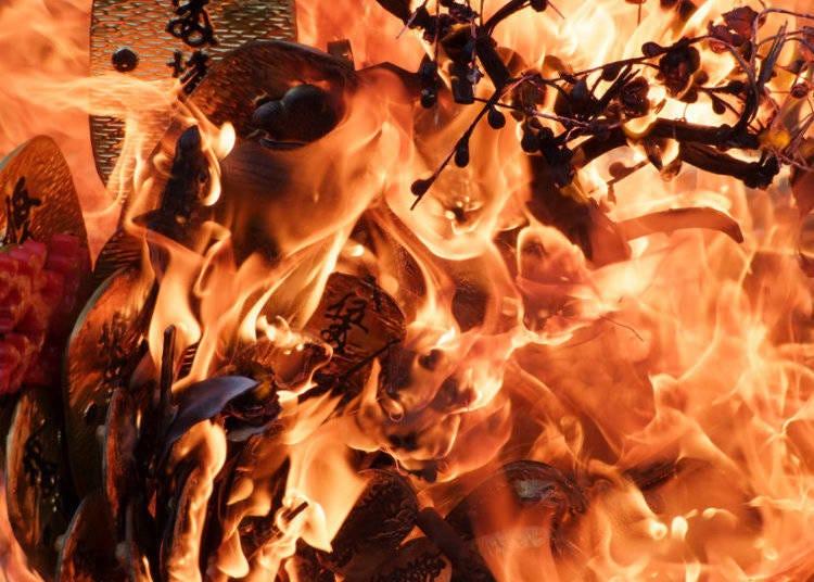 炎で浄化を