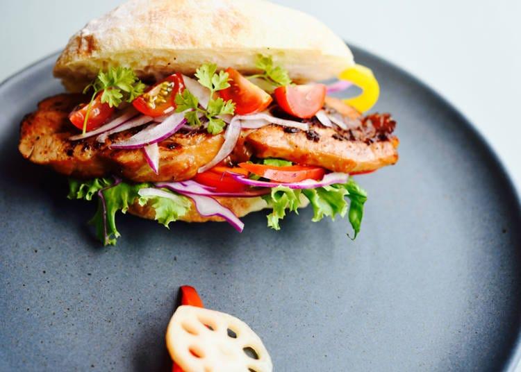注文を受けてから作るクラフトサンドイッチ