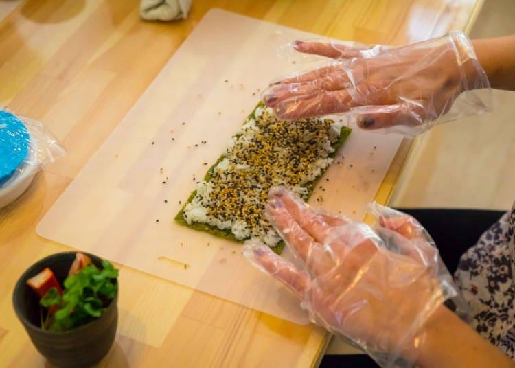 롤초밥 만들기에 도전