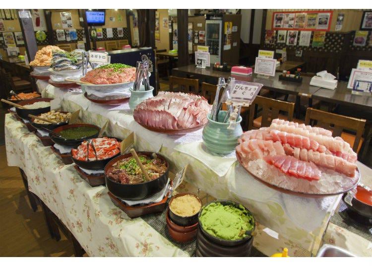 สิ่งที่น่าสนใจของซาชิมิบุฟเฟ่ต์อาหารกลางวัน