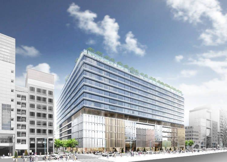 銀座地區最大規模的大型複合設施登場