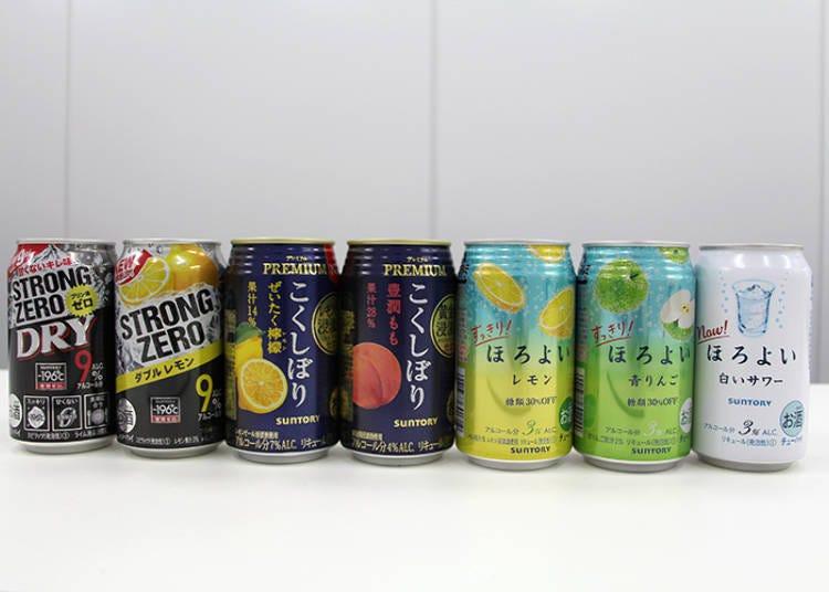 此次評比的日本罐裝調酒「Chuhai」商品陣容