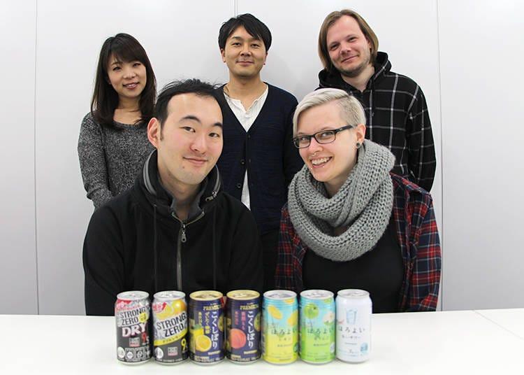 此次參加日本罐裝調酒「Chuhai」試喝的外國人