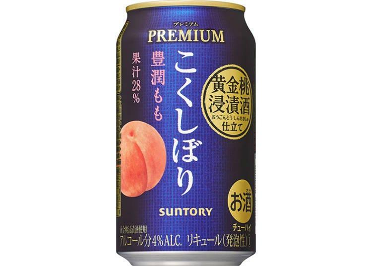 日本罐裝調酒試喝④KOKUSHIBORI PREMIUM〈豐潤白桃〉