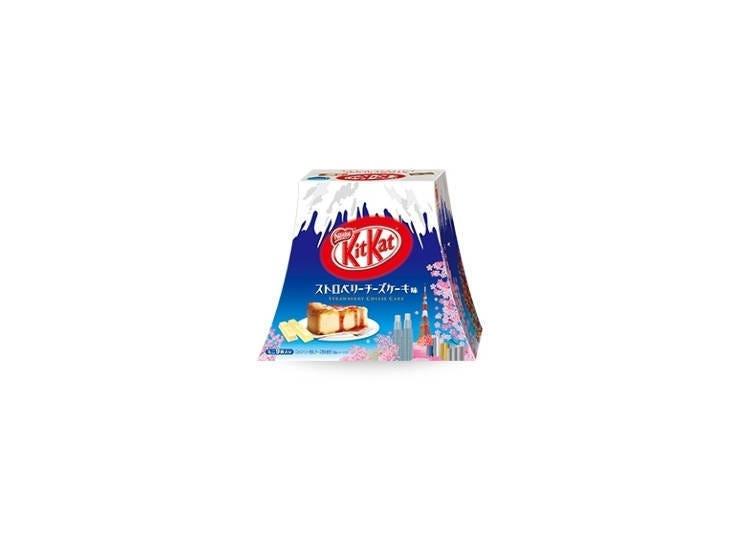 KitKat 迷你型 草莓乳酪蛋糕口味 富士山造型包裝盒 9片