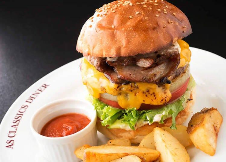 """AS Classics Diner""――品尝真正手工制作汉堡"