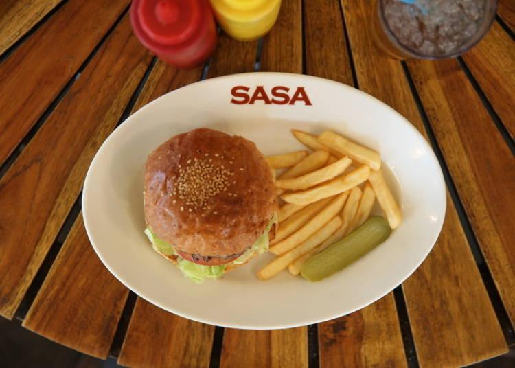 以讓人愛不釋手的日式漢堡為賣點的「燒烤漢堡俱樂部・SASA」