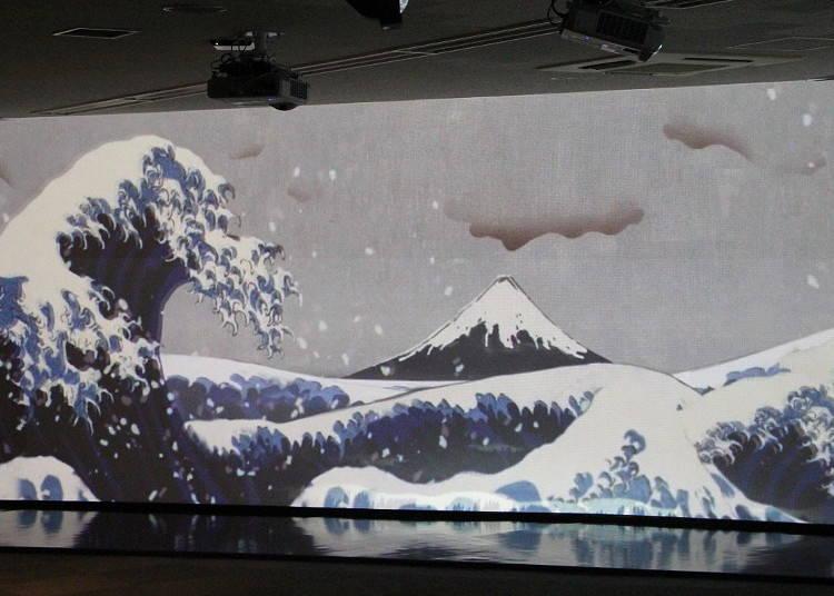 Diving Head First into Hokusai's Great Wave off Kanagawa