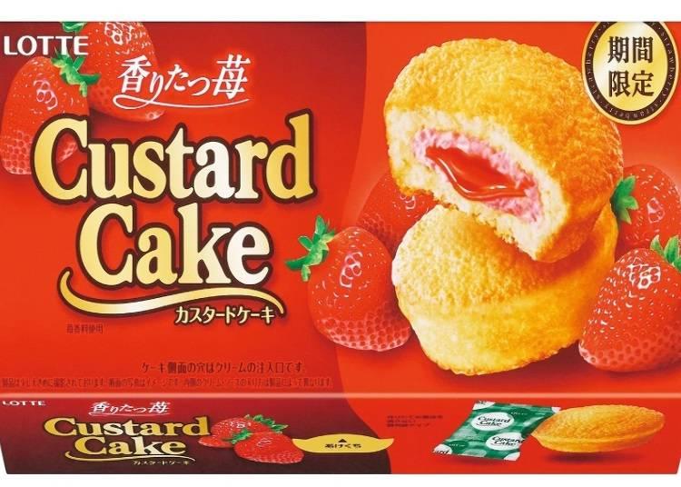 Custard Cake – Fragrant Strawberry