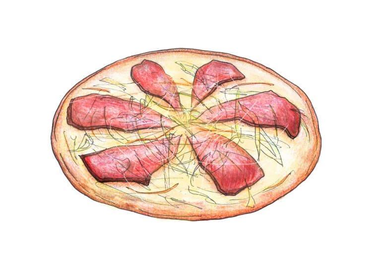 チャーシューピザ