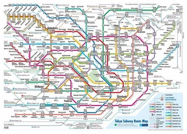 Tokyo Metro: 9 Subway Lines