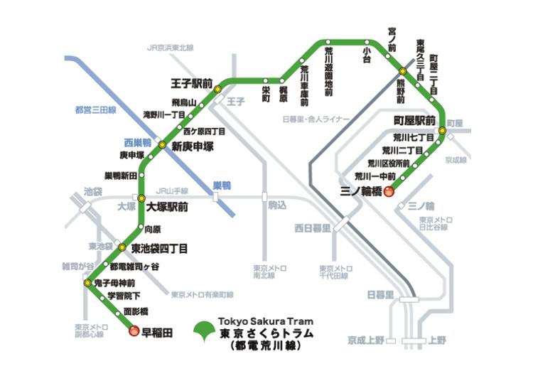 도쿄 사쿠라 도라무(도영 전철 아라가와선)-복고풍 노면 전차