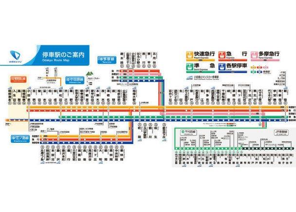 小田急電鐵-新宿直達箱根、江之島