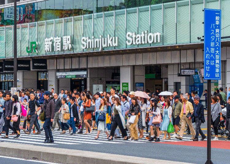 도쿄 신주쿠역의 각 출구별 동선 및 주변건물 파악 완전가이드!