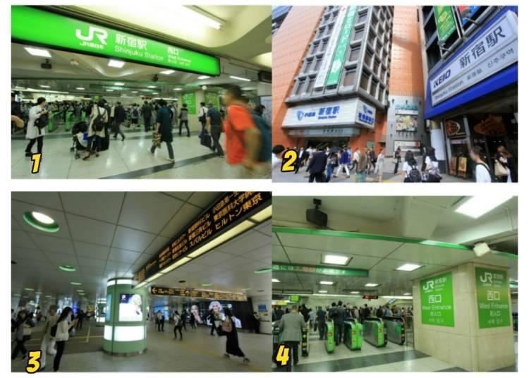 7)東京都庁や家電量販店が集まる新宿駅西口へ行く方法は?