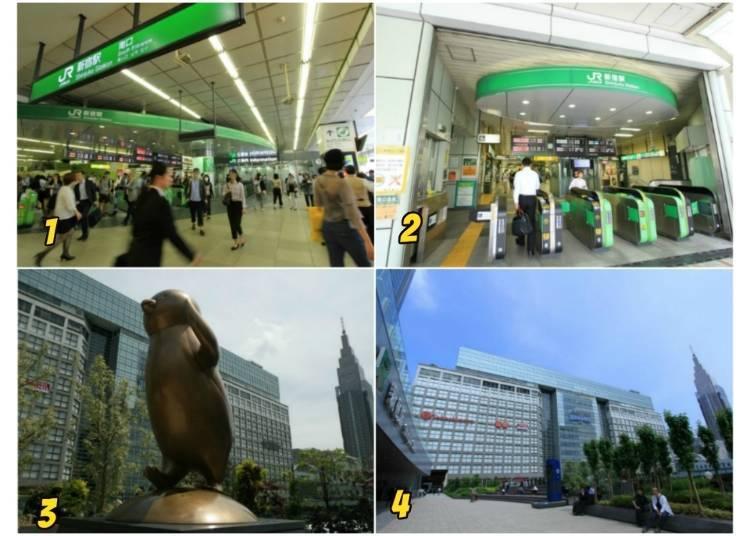 6)바스타 신주쿠, 신주쿠 다카시마야가 있는 신주쿠역 남쪽 출구로 가는 방법은?