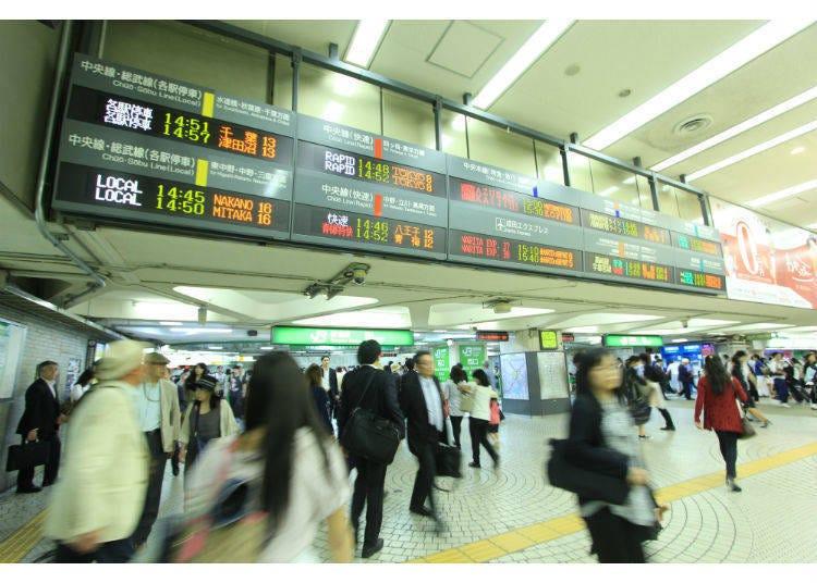 1)宛如迷宮般的新宿車站