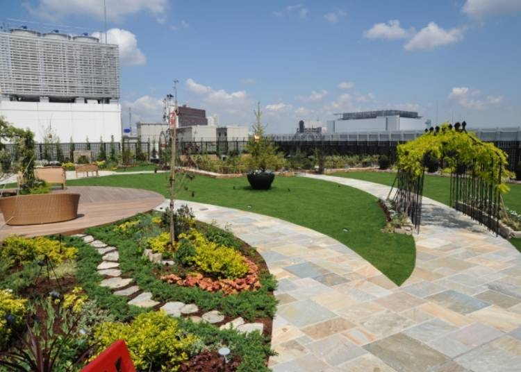 Q-COURT, The Marui Rooftop Garden: A Green Oasis Above Shinjuku