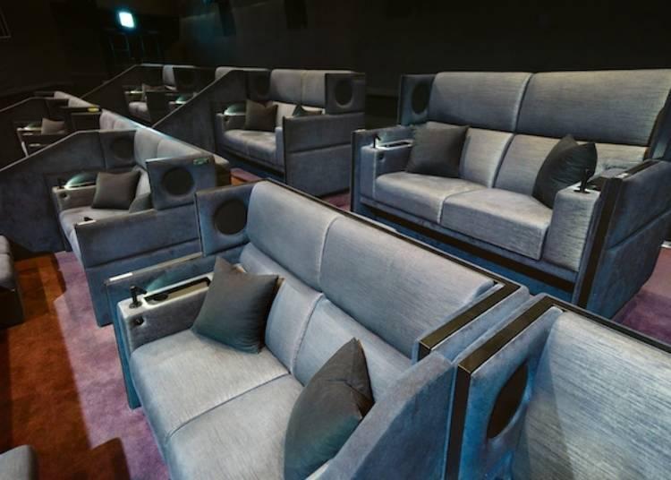 可享用專用貴賓室以及特別餐飲服務的電影觀賞座席