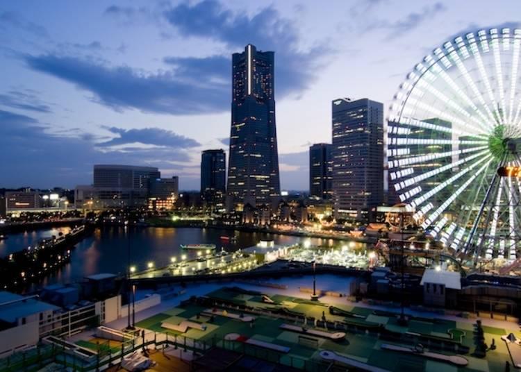 5. Yokohama World Porters Roof Garden: Spend a Romantic Evening while Gazing over Yokohama