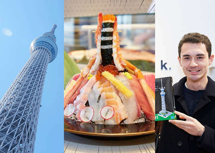 [MOVIE] スカイツリーを追求したら…外国人も仰天のデカ盛り寿司とお土産に遭遇|東京執事物語