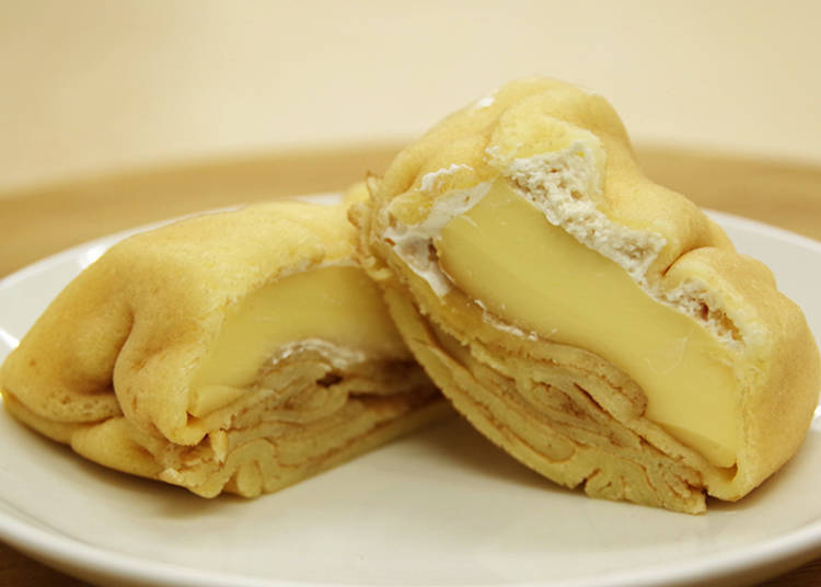 3. Square Crepe with Baked Pudding