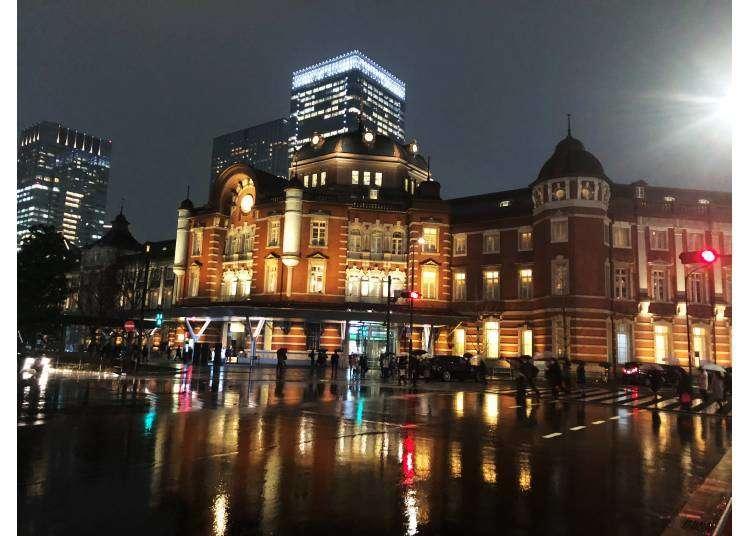 東京駅 カフェ 夜景