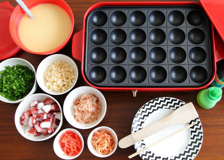 4. Making Takoyaki at Home - Customize the Traditional Takoyaki Recipe with Sausage, Cheese, and More!