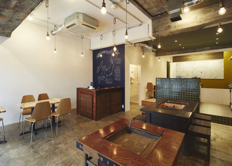 이로리가 있는 가족같은 분위기의 「IRORI Nihonbashi Hostel and Kitchen」