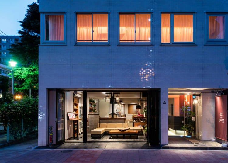 시큐리티 만전의 여성층에 파우더 룸이 있는 여성을 위한 서비스가 돋보이는 「GRIDS 아키하바라 호텔+호스텔」