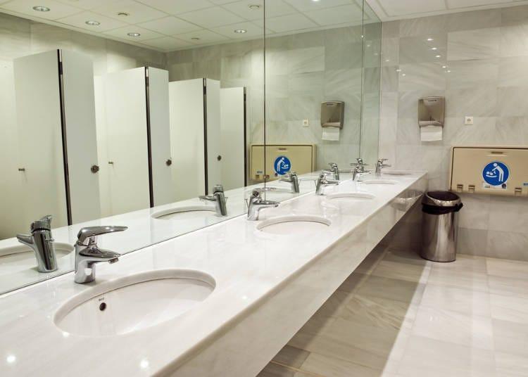 9.公共洗手间是免费的太震惊了!