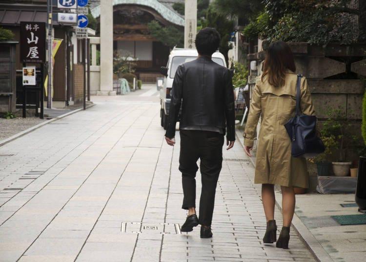 8. She won't let him carry her bag