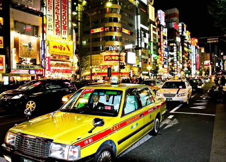 9)日本計程車要怎麼搭?