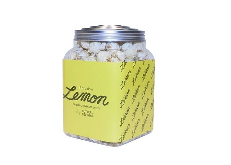 レモネード専門店のレモン味のポップコーン