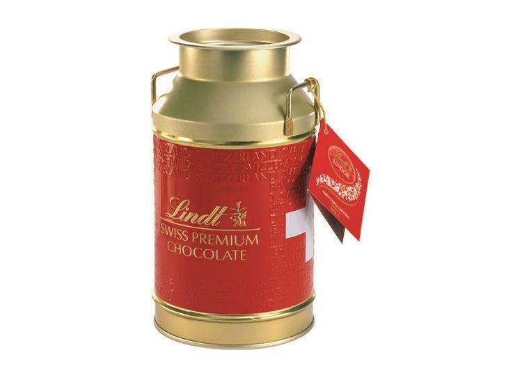 ミルク缶に入った本場スイスのチョコレート