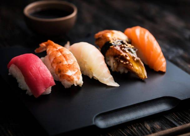 高級店からリーズナブル&エンターテイメントなお店まで人気の「お寿司」