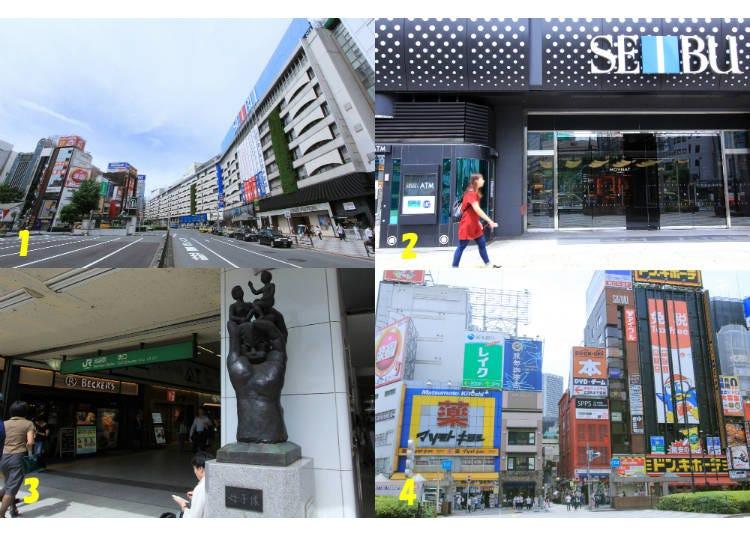 4) 池袋駅東口には何がある?