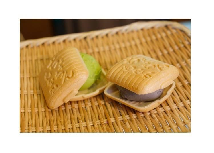 仲見世商店街的推薦美食③融合日式與西洋的點心「最中冰淇淋」